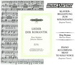 Lieder Der Romantik Voix Haute. CD SCHUBERT Partition laflutedepan
