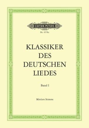 Klassiker des Deutschen Liedes Volume 1. Voix Moyenne laflutedepan