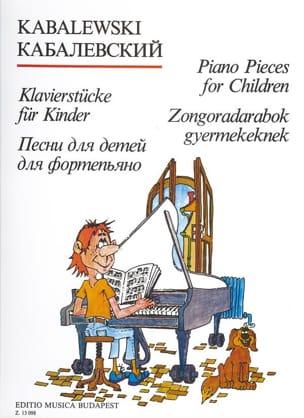 Pièces de Piano Pour Enfants. KABALEVSKY Partition laflutedepan