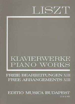 Freie Bearbeitungen Série 2 Volume 13. LISZT Partition laflutedepan