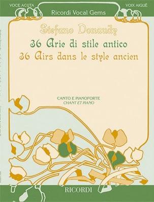 36 Arie di stile antico. Voix haute Stefano Donaudy laflutedepan