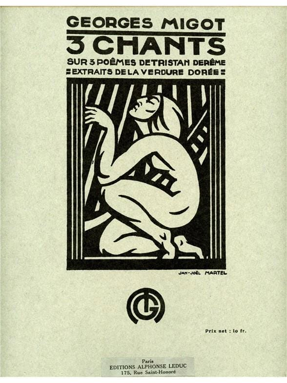 3 Chants sur 3 Poèmes - Georges Migot - Partition - laflutedepan.com