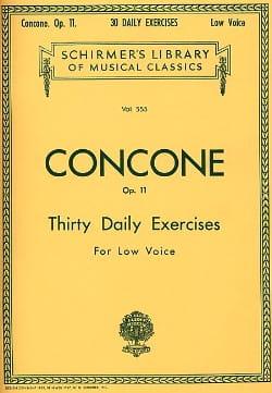 Giuseppe Concone - 30 Daily Exercises Opus 11 Vx Serious - Partition - di-arezzo.com