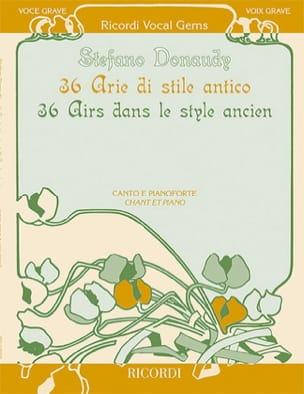 36 Arie di stile antico. Voix grave Stefano Donaudy laflutedepan