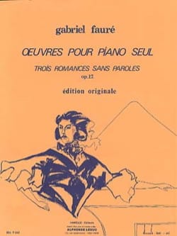 3 Romances Sans Paroles Opus 17 - FAURÉ - Partition - laflutedepan.com