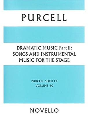 Dramatic Music Volume 2 PURCELL Partition Petit format - laflutedepan