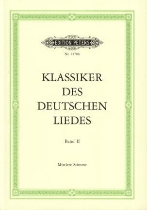 Klassiker des Deutsches Liedes Volume 2 Voix Moyenne laflutedepan
