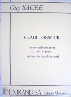 Clair-Obscur Guy Sacre Partition Mélodies - laflutedepan