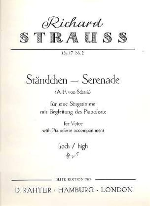 Standchen Op. 17-2 . Voix Haute - Richard Strauss - laflutedepan.com