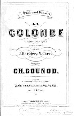 Charles Gounod - The Dove - Partition - di-arezzo.com