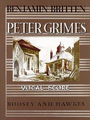 Peter Grimes Opus 33 BRITTEN Partition Opéras - laflutedepan