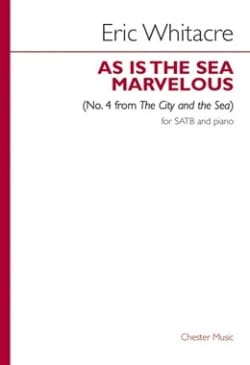 As Is The Sea Marvelous N°. 4 Eric Whitacre Partition laflutedepan