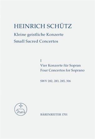 Kleine geistliche Konzerte. Heft 1. Nach Band 10 der Neuen Schütz-Ausgabe laflutedepan