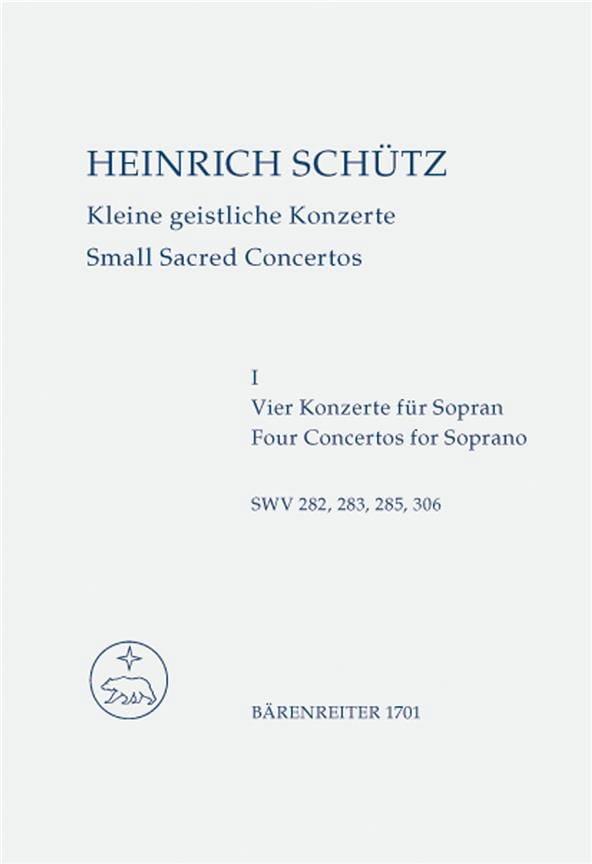 Kleine geistliche Konzerte. Heft 1. Nach Band 10 der Neuen Schütz-Ausgabe - laflutedepan.com