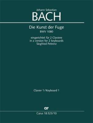 Die Kunst Der Fugue BWV 1080. 2 Pianos BACH Partition laflutedepan