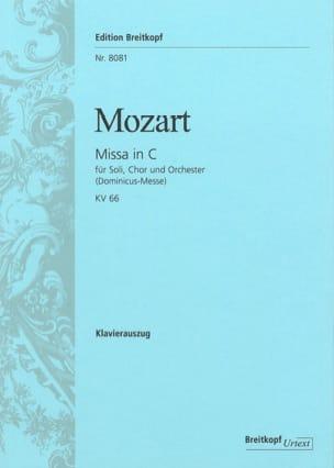 Missa in C KV 66 Dominicus - MOZART - Partition - laflutedepan.com