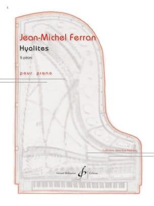 Hyalites Jean-Michel Ferran Partition Piano - laflutedepan
