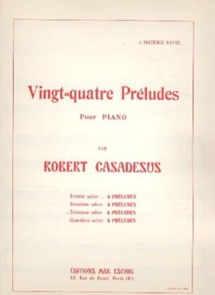 24 Préludes Piano Volume 3 - CASADESUS - Partition - laflutedepan.com