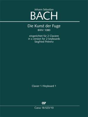 Die Kunst Der Fugue BWV 1080. 2 Pianos - BACH - laflutedepan.com
