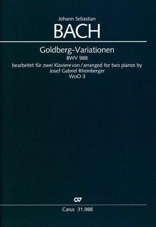 Goldberg-Variationen BWV 988. 2 Pianos BACH Partition laflutedepan