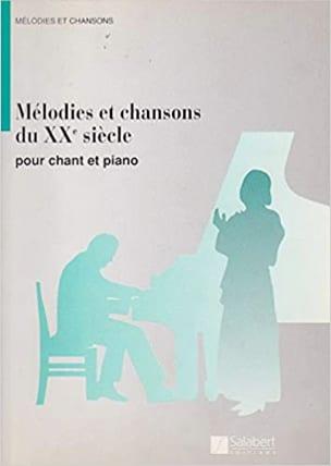 Mélodies et Chansons Du 20ème Siècle Partition laflutedepan