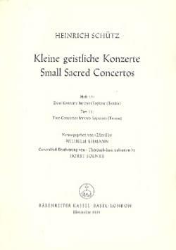 Kleine Geistliche Konzerte. Volume 15 SCHUTZ Partition laflutedepan