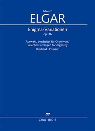 Enigma Variations Opus 36 ELGAR Partition Orgue - laflutedepan