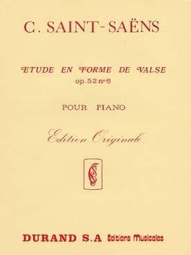 Etude En Forme de Valse Opus 52-6 SAINT-SAËNS Partition laflutedepan