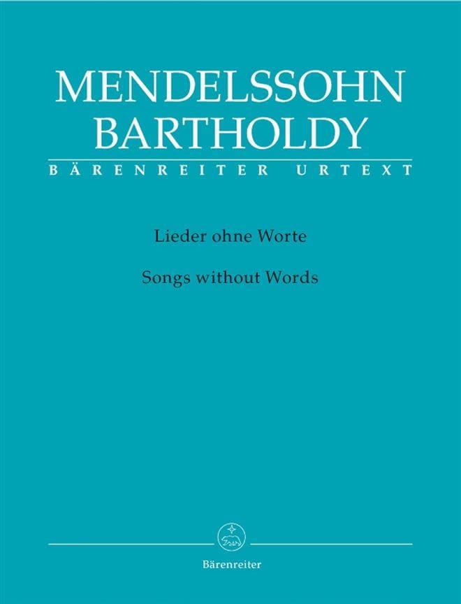 Lieder Ohne Worte - MENDELSSOHN - Partition - Piano - laflutedepan.com