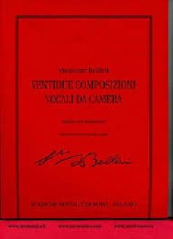22 Composizioni Vocali Da Camera BELLINI Partition laflutedepan