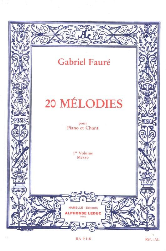 20 Mélodies Volume 1. Mezzo - FAURÉ - Partition - laflutedepan.com