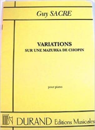 Variation sur une Mazurka de Chopin - Guy Sacre - laflutedepan.com
