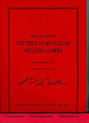 22 Composizioni Vocali Da Camera - BELLINI - laflutedepan.com