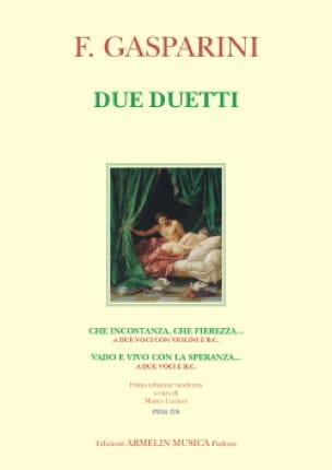 Due duetti - Francesco Gasparini - Partition - Duos - laflutedepan.com