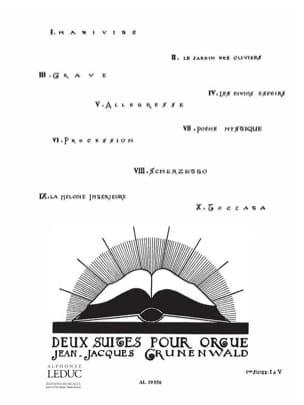 2 Suites: n° 1 Jean-Jacques Grunenwald Partition Orgue - laflutedepan