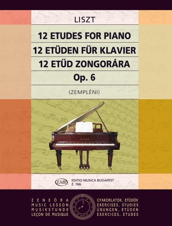 12 Etudes Opus 1 - LISZT - Partition - Piano - laflutedepan.com