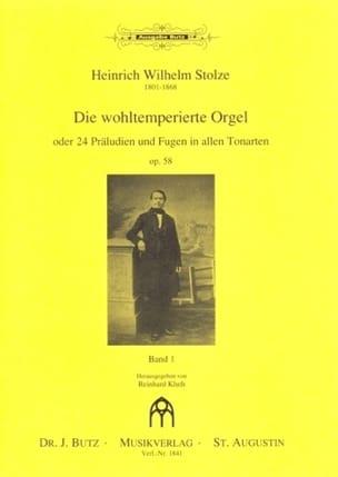 Die Wohltemperierte Orgel Op. 58 Volume 1 laflutedepan