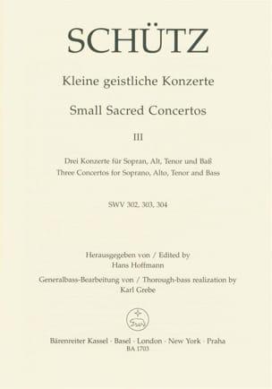 Kleine geistliche Konzerte. Heft 3. SCHUTZ Partition laflutedepan