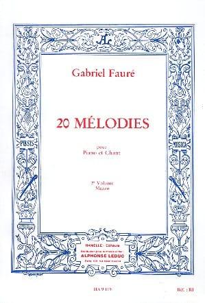 20 Mélodies Volume 2. Mezzo - FAURÉ - Partition - laflutedepan.com