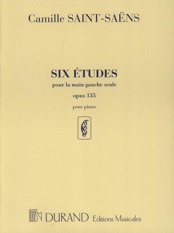 6 Etudes Opus 135 Pour la Main Gauche - SAINT-SAËNS - laflutedepan.com