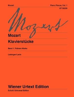 Klavierstücke Volume 1 - MOZART - Partition - Piano - laflutedepan.com
