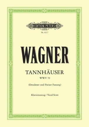 Tannhäuser Wwv 70 WAGNER Partition Opéras - laflutedepan