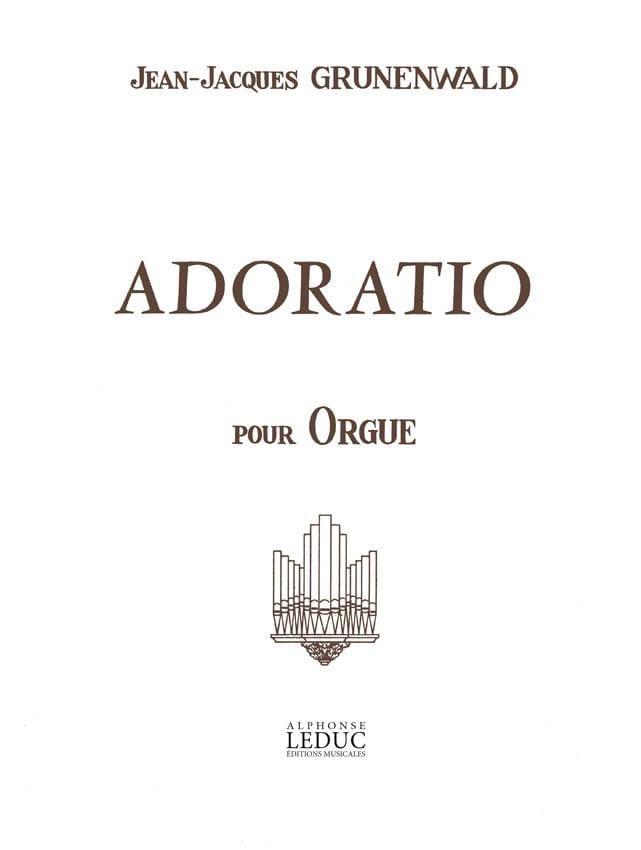 Adoratio - Jean-Jacques Grunenwald - Partition - laflutedepan.com