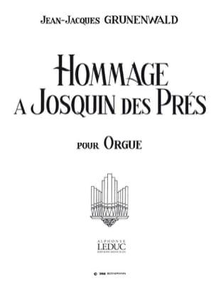 Hommage à Josquin Desprez Jean-Jacques Grunenwald laflutedepan