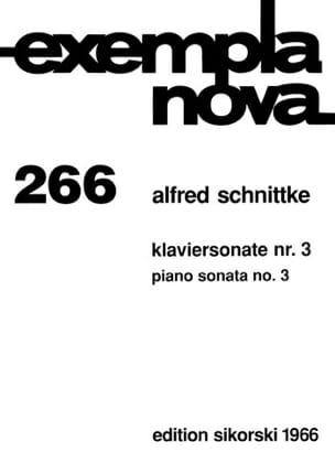 Sonate pour piano n° 3 SCHNITTKE Partition Piano - laflutedepan