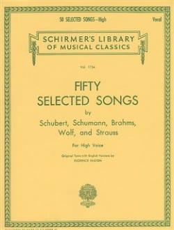 50 Selected Songs. Voix Haute - BRAHMS - Partition - laflutedepan.com