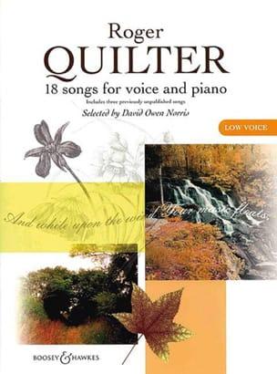 18 Songs. Voix Grave Roger Quilter Partition Mélodies - laflutedepan