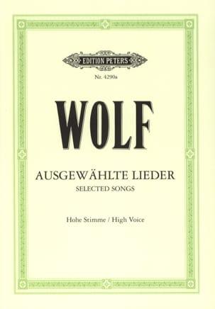 Ausgewählte Lieder. Voix Haute Hugo Wolf Partition laflutedepan