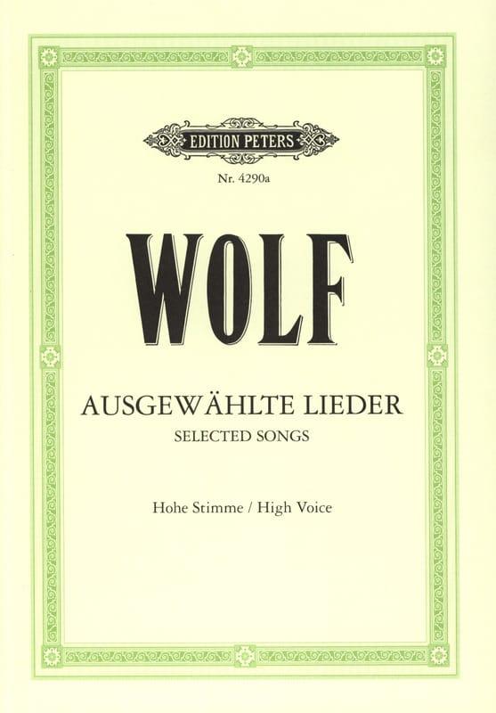 Ausgewählte Lieder. Voix Haute - Hugo Wolf - laflutedepan.com