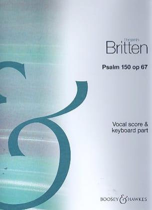 Psalm 150 Opus 67 BRITTEN Partition Chœur - laflutedepan